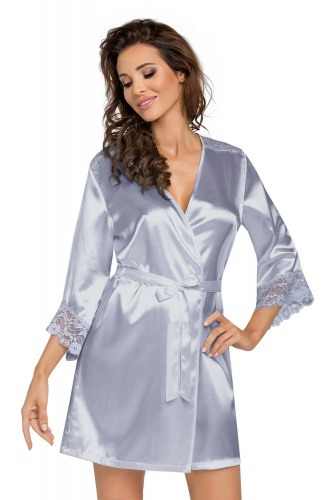 Eva dressing gown Silver