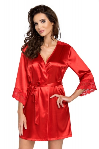 Eva dressing gown Red