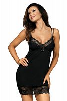 Pamela nightdress Black