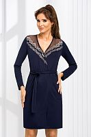 Jasmine dressing gown Dark Blue