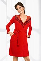 Jasmine dressing gown Red