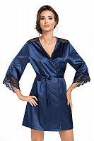 Eva dressing gown Dark Blue