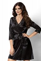 Venus dressing gown Black