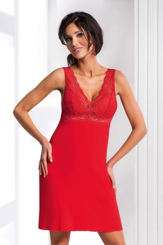 Chantal nightdress Red