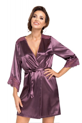 Eva dressing gown Plum