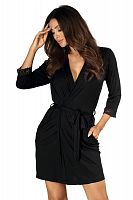 Eleni dressing gown Black