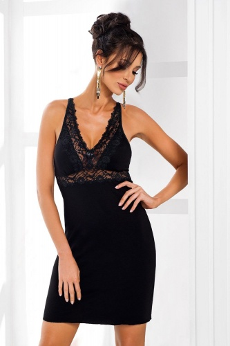 Lily nightdress Black